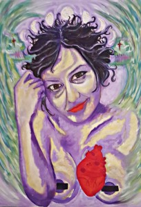 Fulsen Türker'in kendi portresi 50x70, yağlı boya 2014, Istanbul